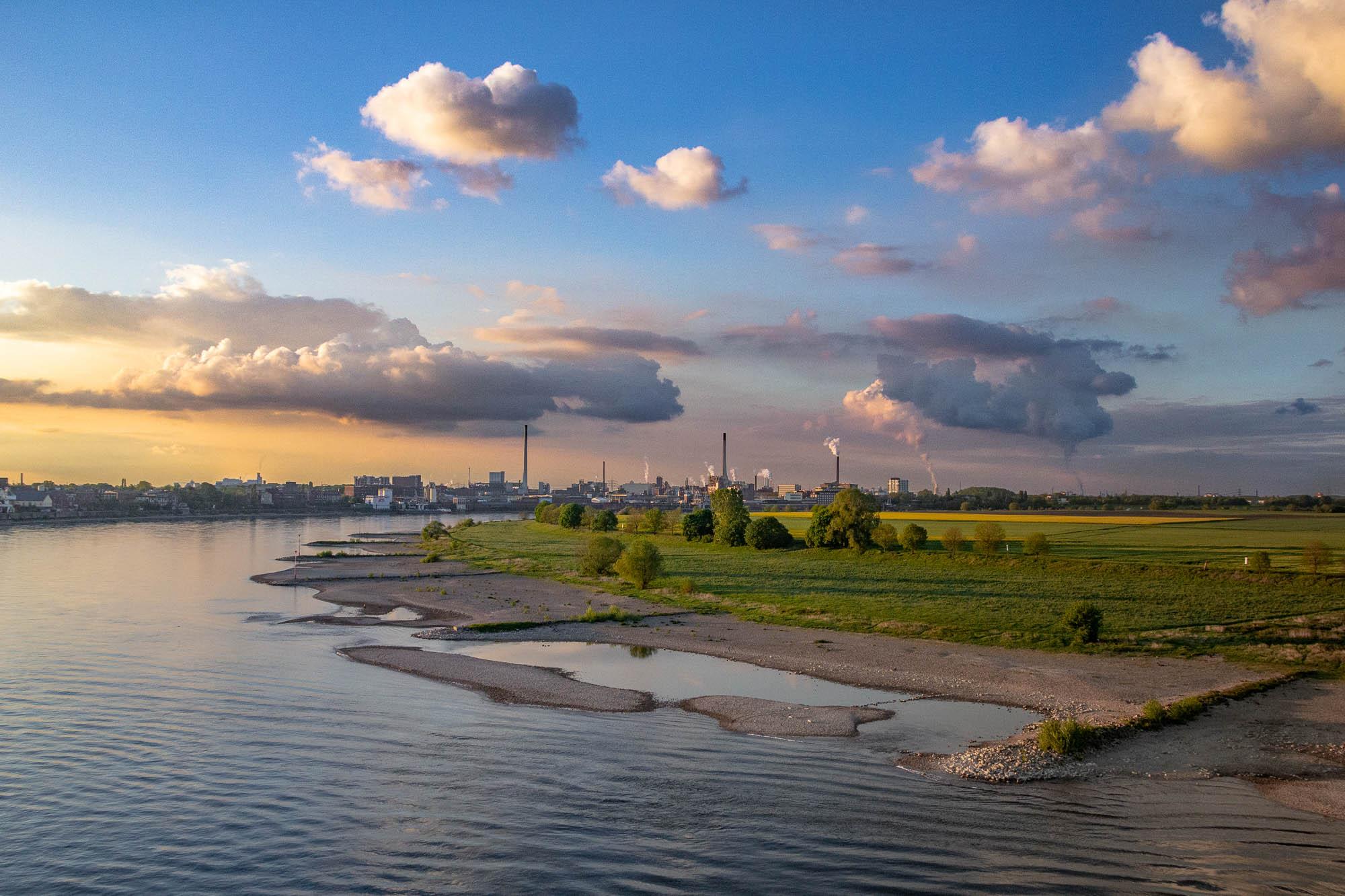 ollo / Abends am Rhein