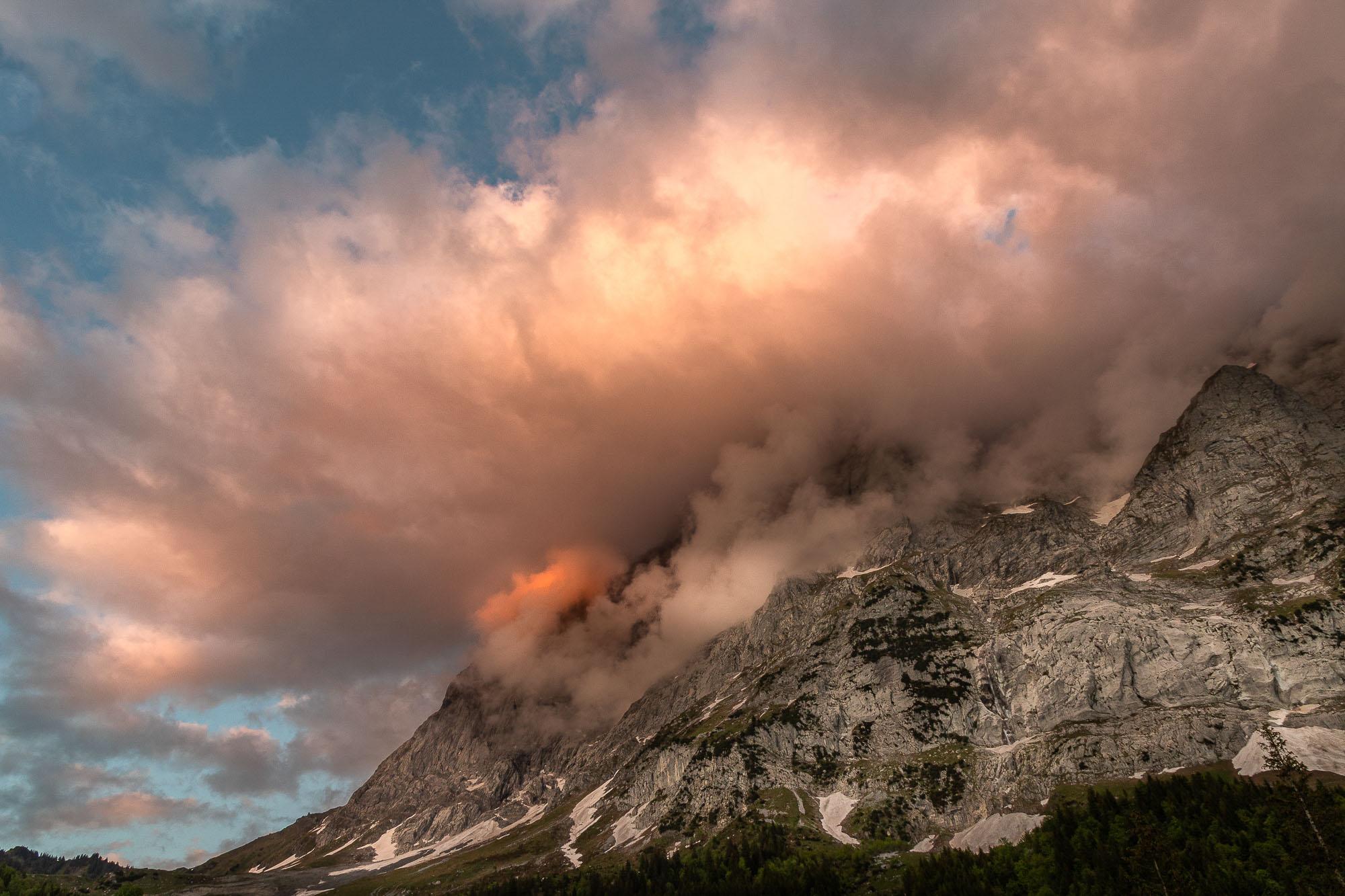 peter / Sonnenuntergang am Wetterhorn