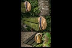 UnclePete / Triptychon mit liegengebliebenem Sommerhut