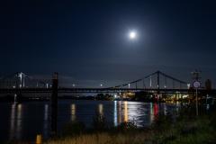 ollo /Rheinbrücke mit Vollmond