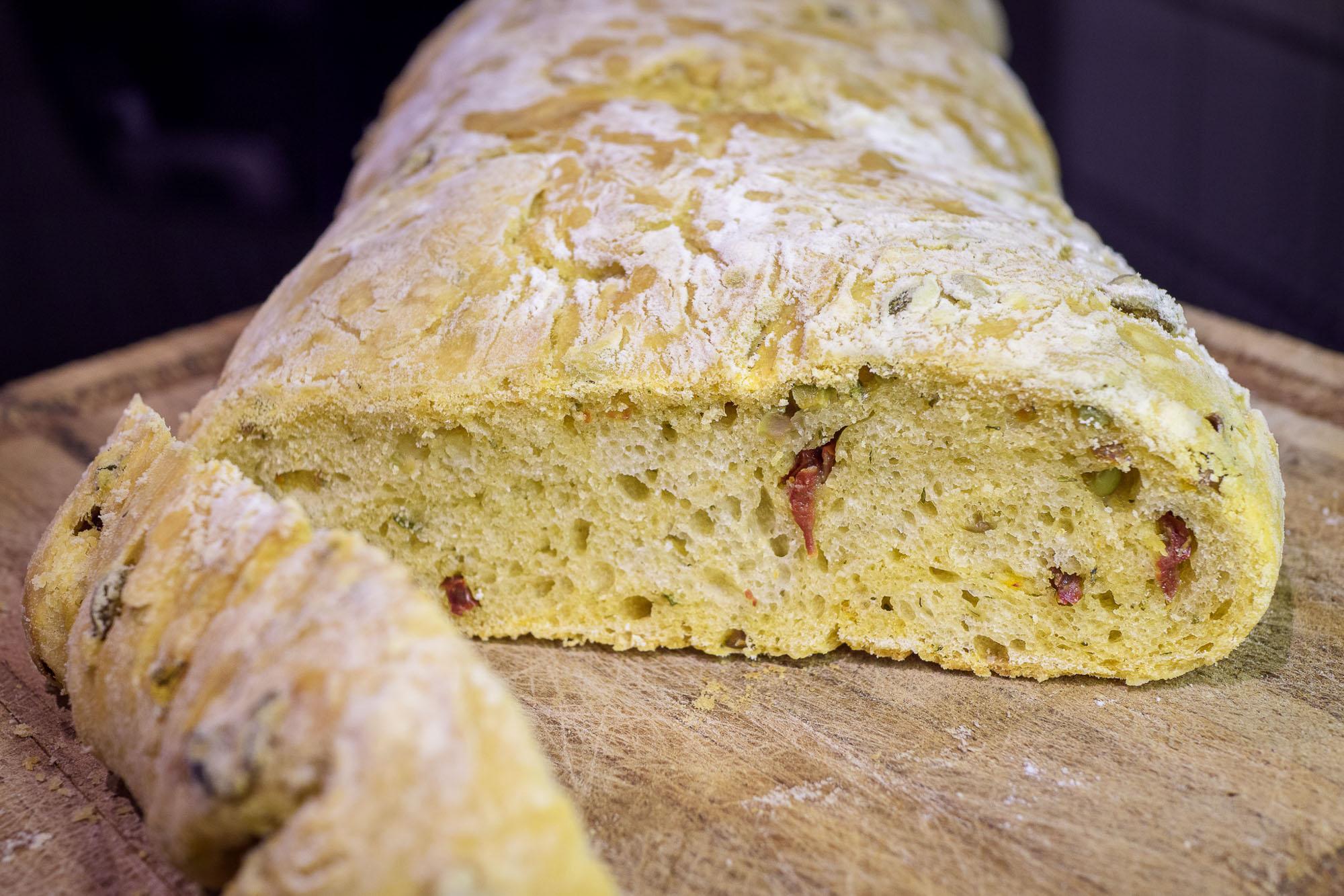 Frisch gebackenes Ciabatte-Brot