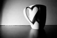 Eine Tasse mit Herz