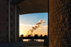 Rheintor bei Sonnenaufgang