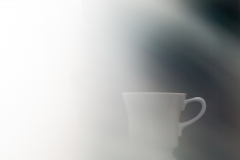 Tasse im Nebel