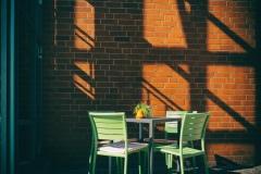 lauschiges Plätzchen beim Cafe