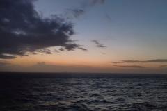 Dämmerung auf See