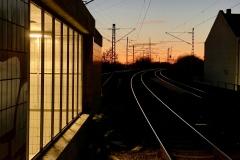 Abendstimmung am S-Bahnhof