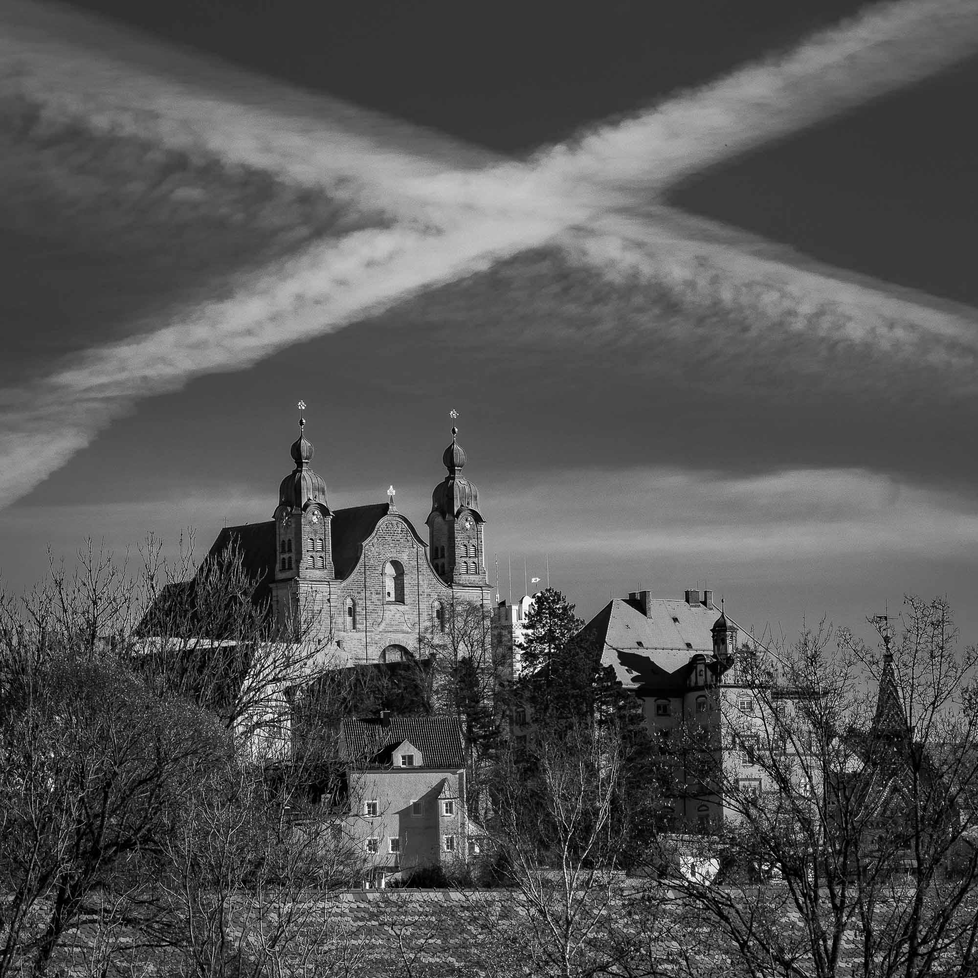 Himmelskreuz über Heilig Kreuz, Landsberg am Lech