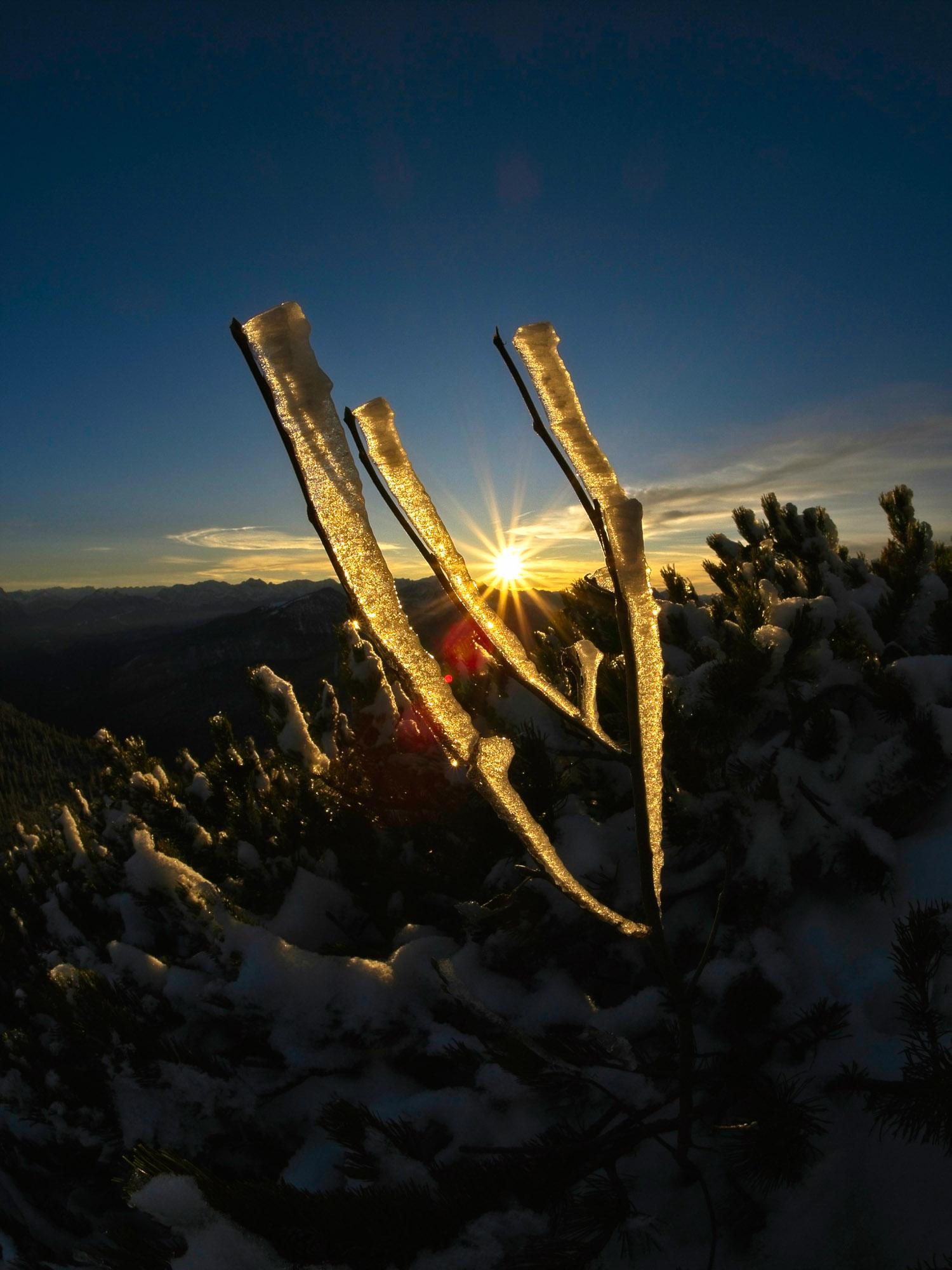 Sonnenuntergang auf dem Herzogstand