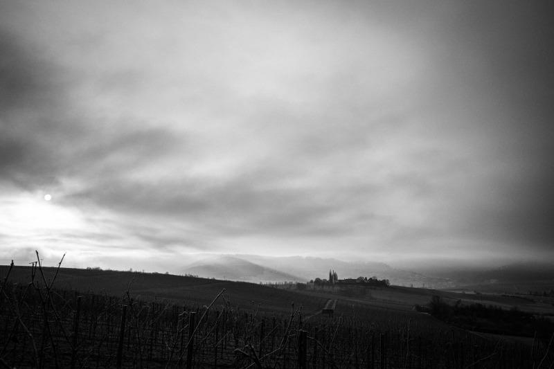 Wintermorgen in der schwäbischen Toskana