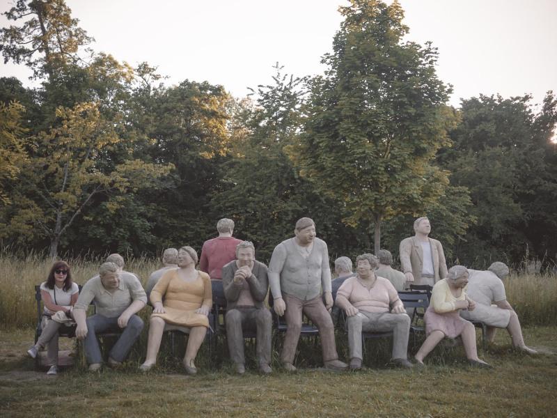 Alltagsmenschen Skulpturenpark Eschborn