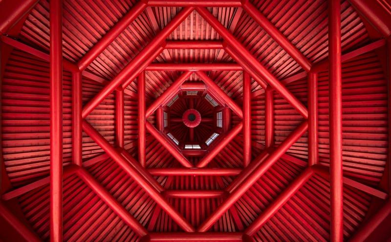 Symmetrie, rot