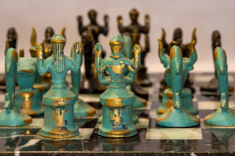 Lass uns eine Partie Schach spielen
