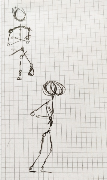 Ich, gezeichnet von Freundin Lore