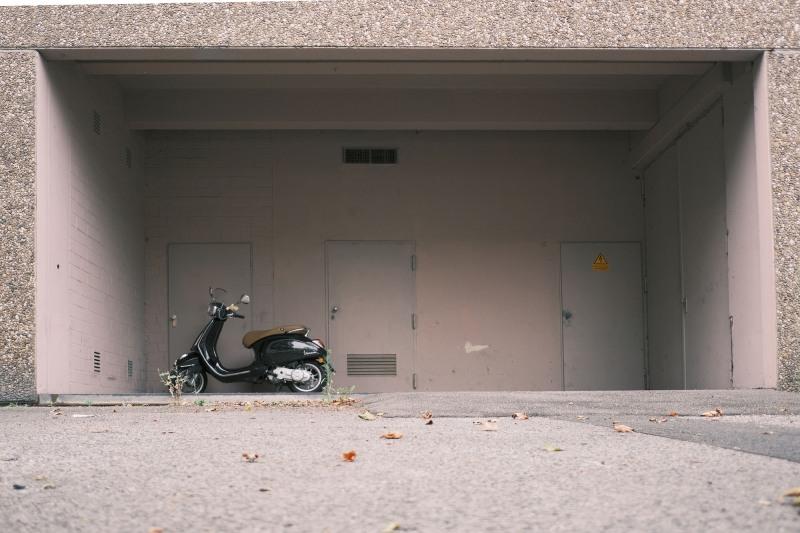 Obdachlose Vespa