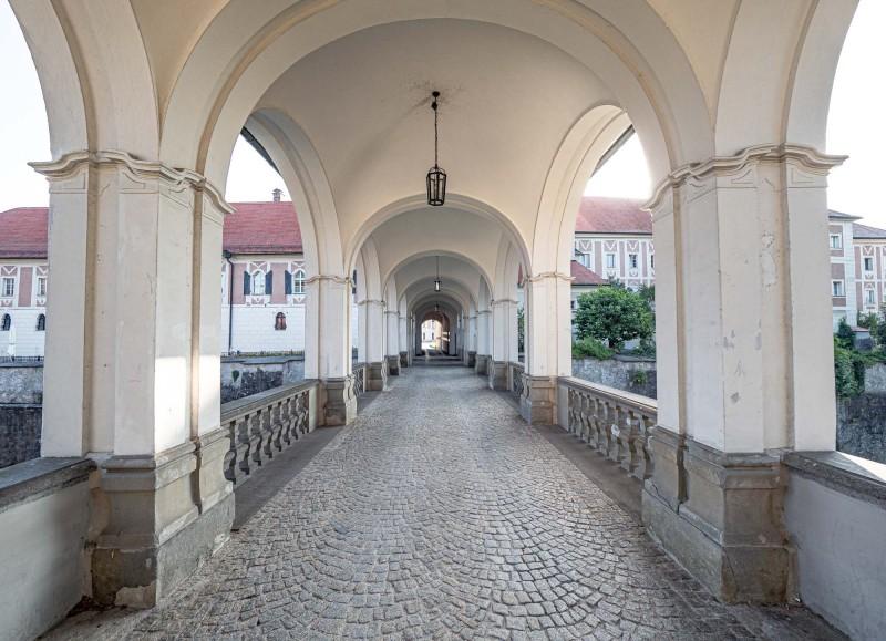 Schloss Lamberg Steyr Morgensonne 14 mm