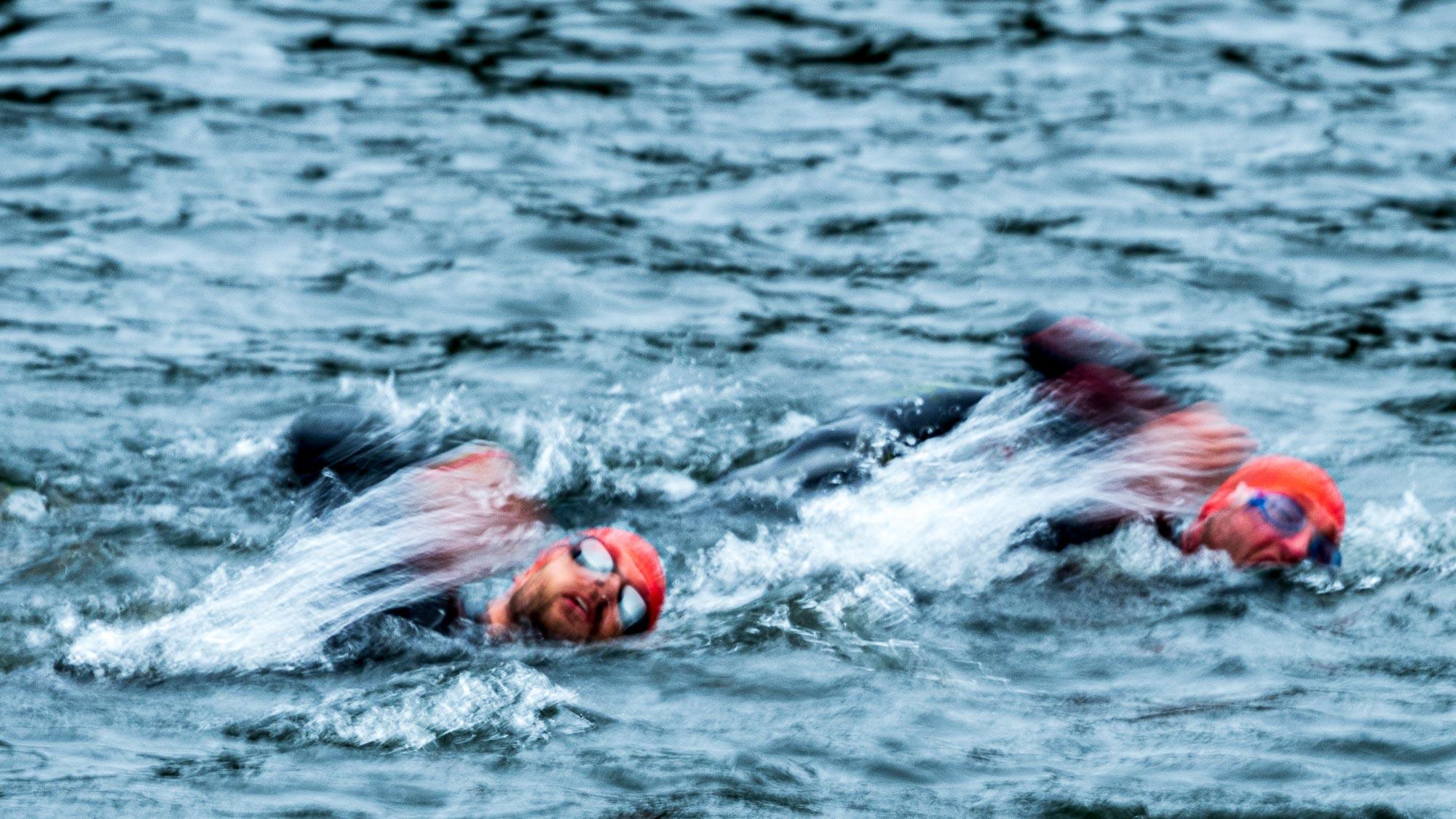 Schwimmen beim Triathlon