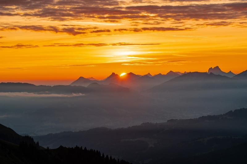 Sonnenaufgang auf 1980m