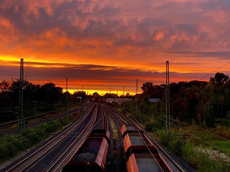 Abendstimmung auf den Gleisen