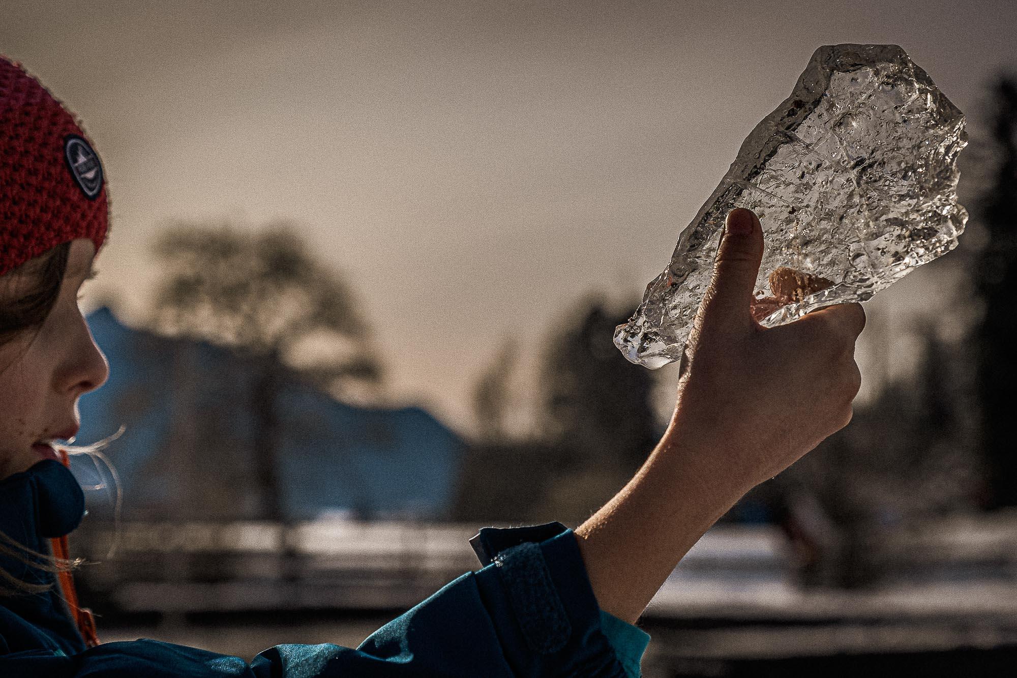Eisbruchstückfaszination