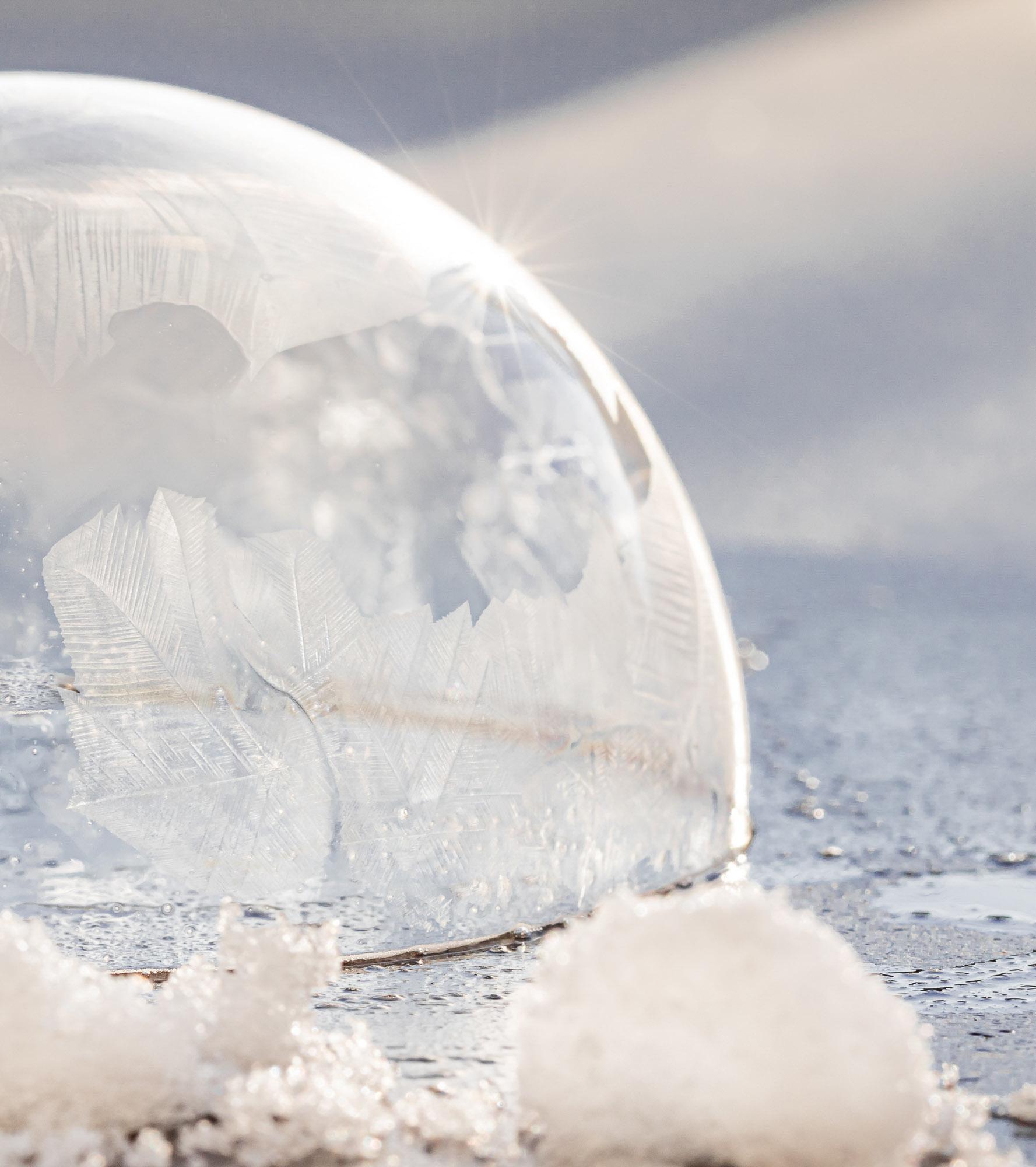 Seifenblasenpfützen