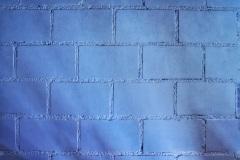Die blaue Wand im Massenschlag