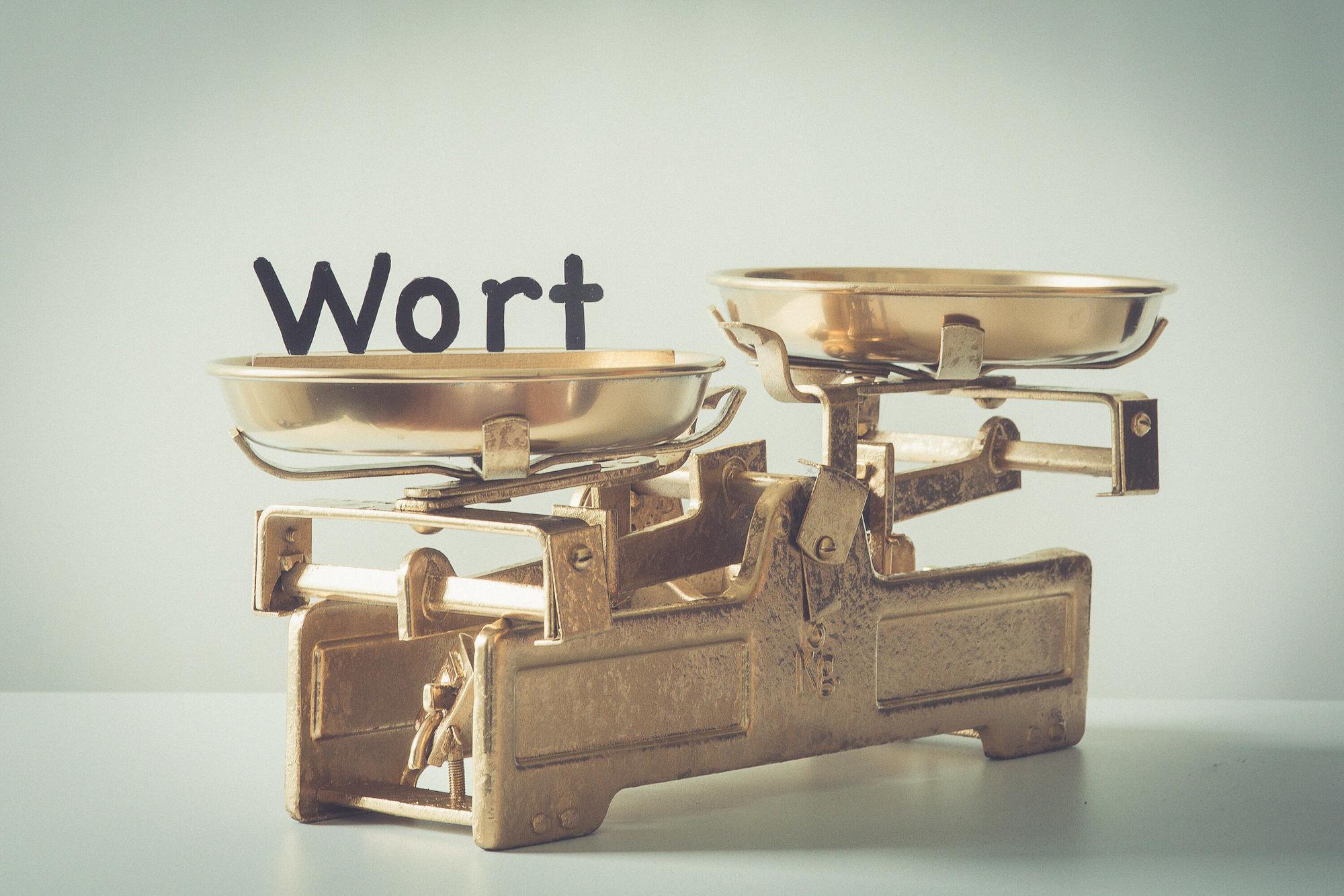 das Wort auf der Goldwaage