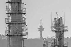Flirrender Funkturm