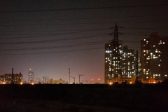 ollo / Durch AQI 270 über die Gleise hinweg. In Beijing am 1 März 2019