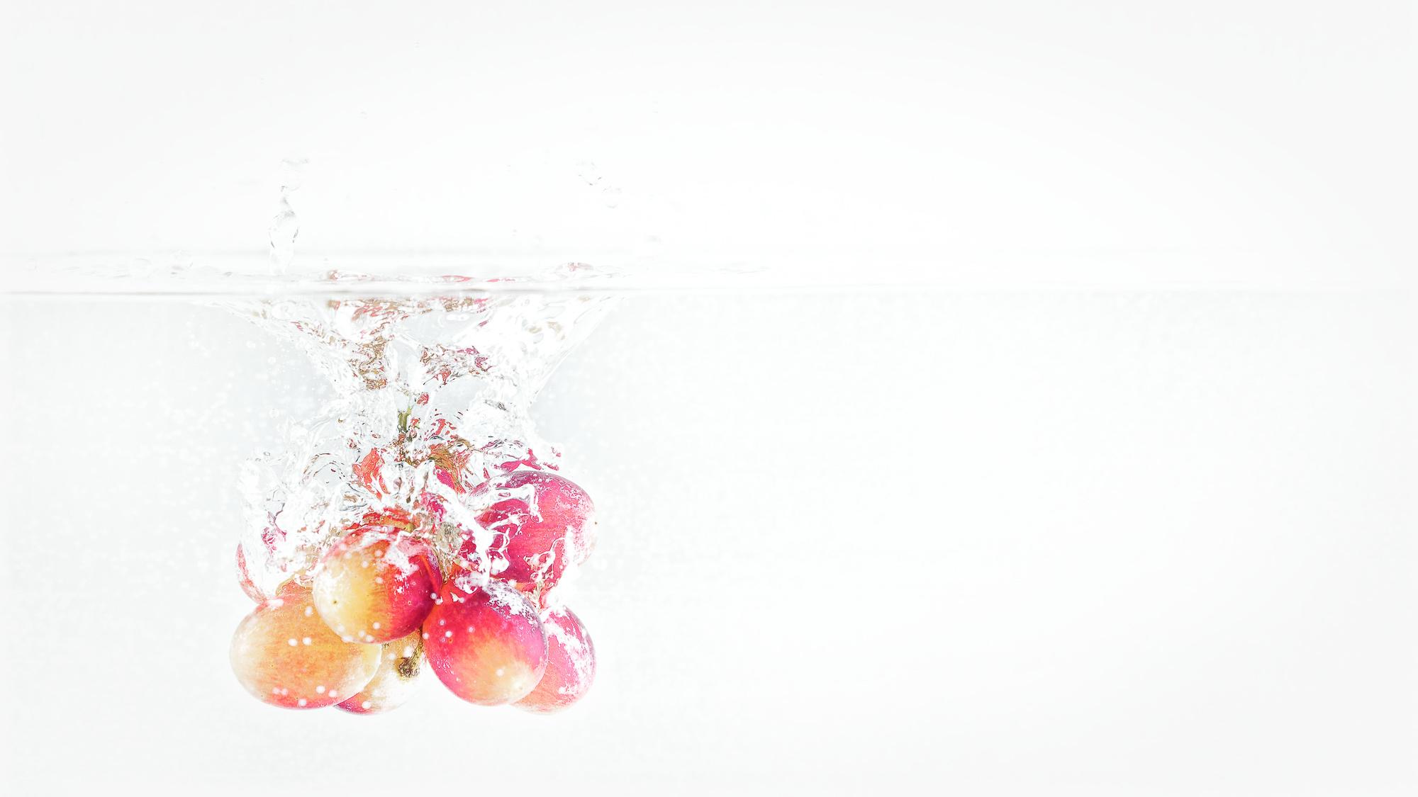 Dinge die ins Wasser fallen - Trauben