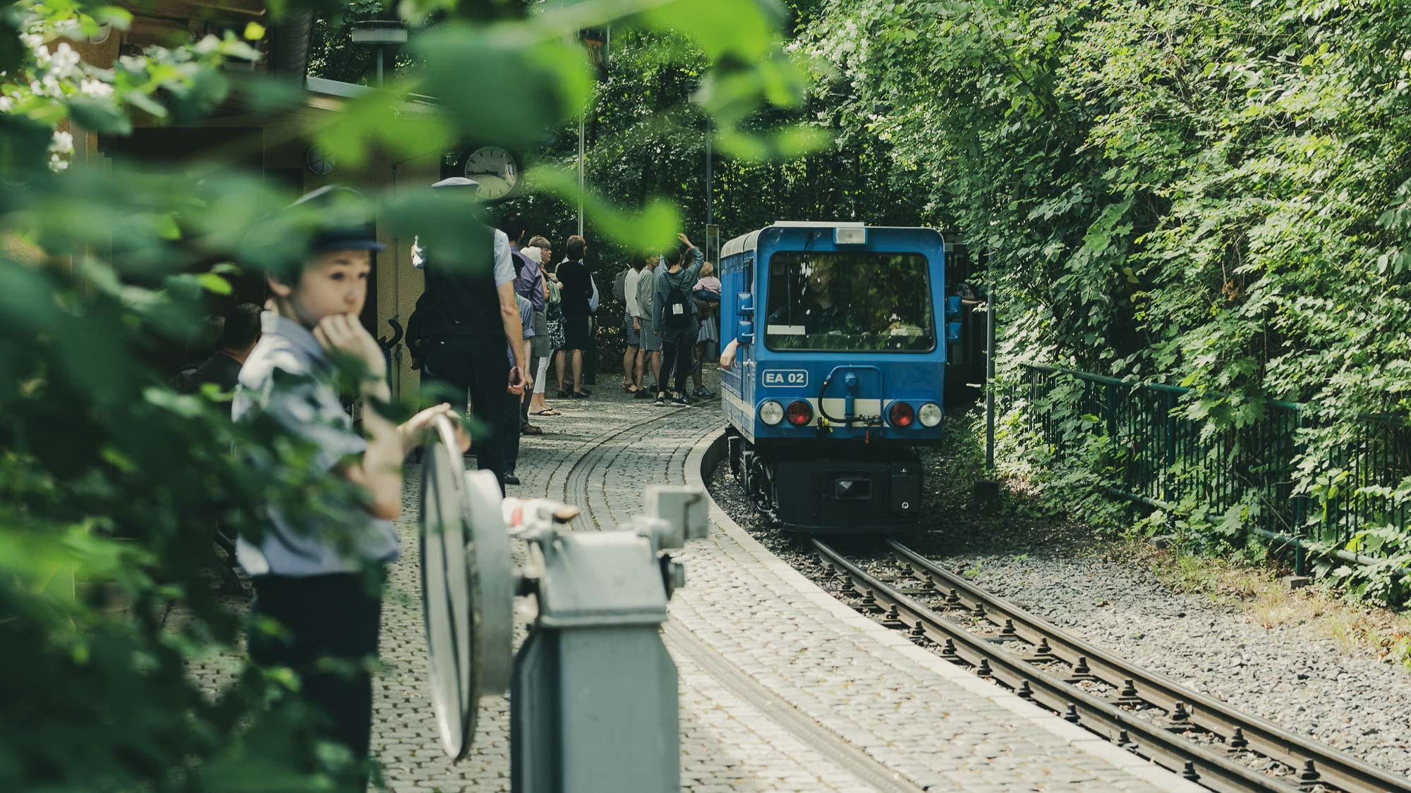 venolab / Vorsicht bei der Einfahrt des Zuges