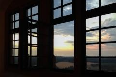 Lumivers / Sonnenuntergang auf der Ronneburg