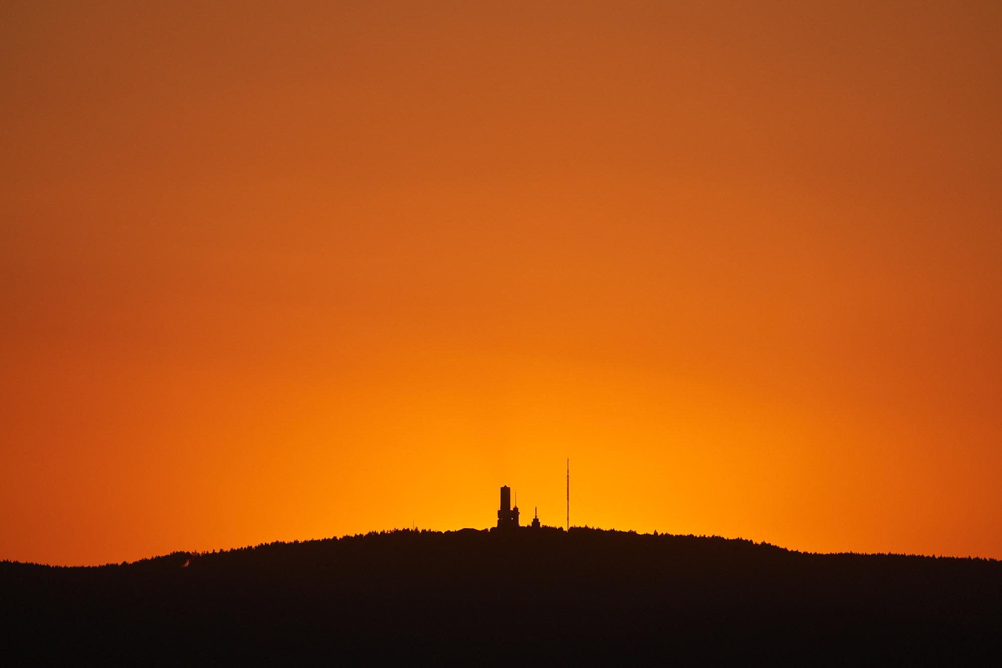 expresskasse / Feldberg nach Sonnenuntergang