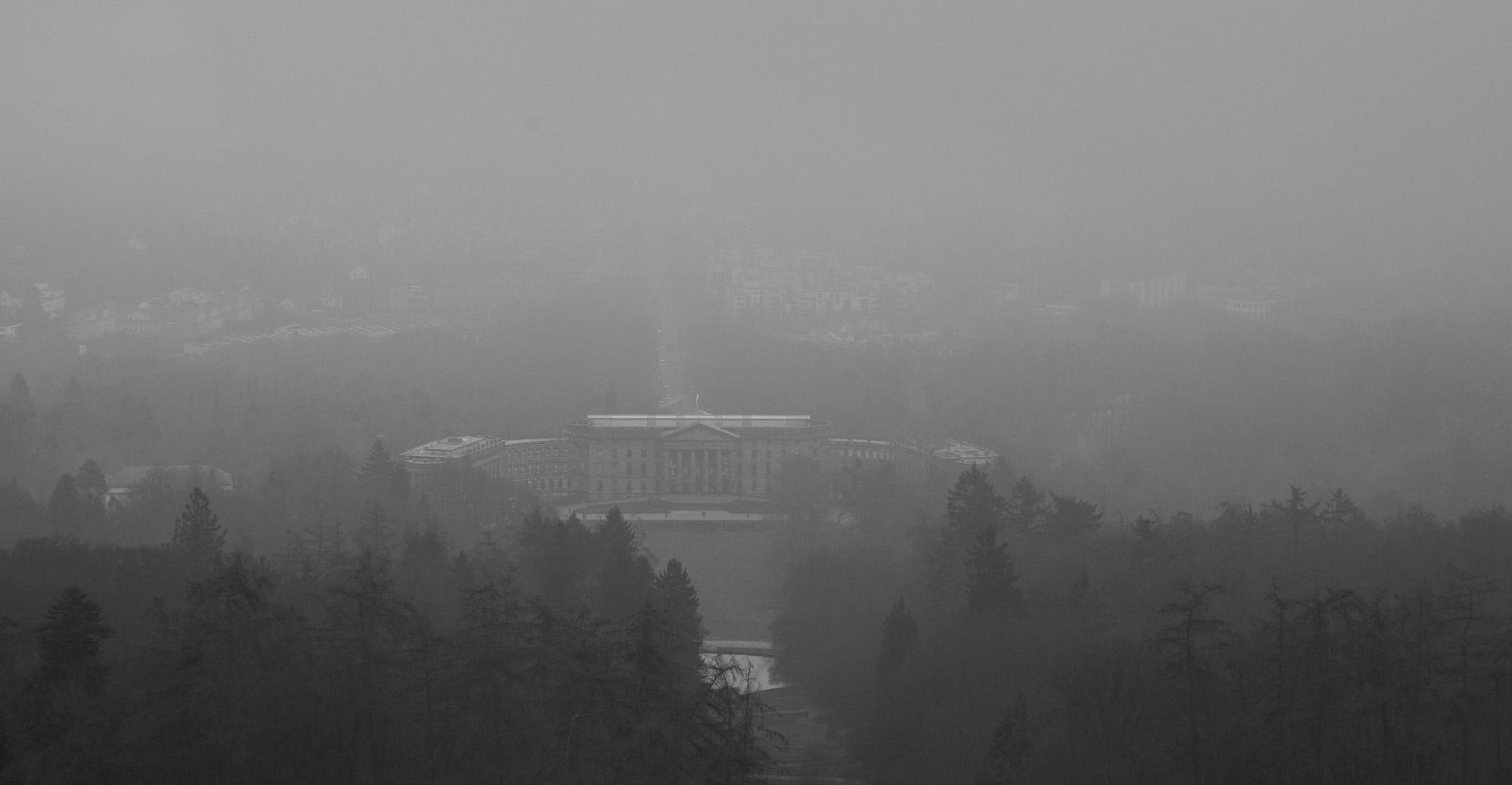 Kassel im Nebel