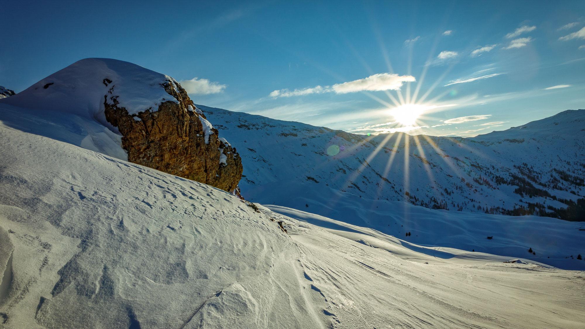 venolab / Sonne, Schnee und Stein